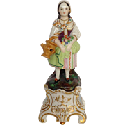Figural Girl Perfume Bottle Figurine Germany 19th c.