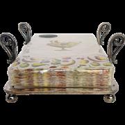 Sliver Plate Hand Towel Holder Or Dinner Napkins