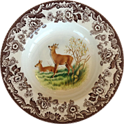 Spode Woodland Deer Dinner Bowl 9""