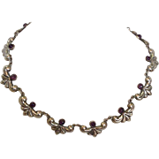 """Amethyst and Sterling Necklace Choker 15"""""""