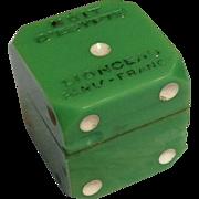 Rare Green Bakelite Dice Perfume