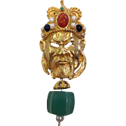 Huge Chinese Emperor Dangly Pin