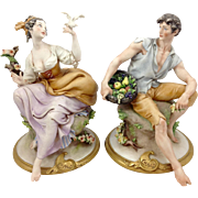 Cappé Pair of Lovers Porcelain Figures