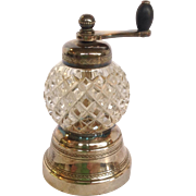 Cut Glass And Silverplate Pepper Mill c. 1922