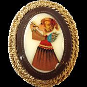Hobe Porcelain Angel Christmas Pin or Pendant
