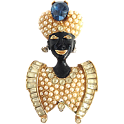 Blackamoor Pin With Pearls