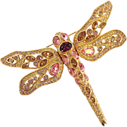 Large Swarovski Dragonfly Pin