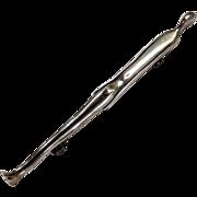 Elongated Figure Pin Sterling