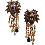 The Lion Sleeps Earrings by Lunch at the Ritz