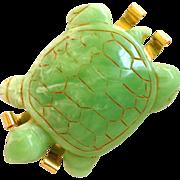Molded Turtle Brooch by Philippe Ferrandis, Paris
