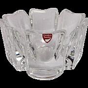 "Orrefors 'Corona' Crystal Bowl 5"" with Original Orrefors Sweden Sticker"