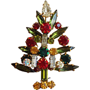 Austrian Christmas Tree Pin with Vertical Candles