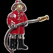 Fireman Pin Wendy Gell Boxed