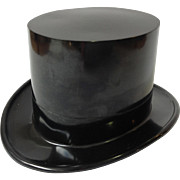 Miniature Black Top Hat Gift Box Plastic