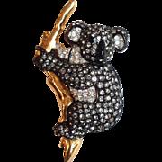 Swarovski Koala Bear Pin Crystal