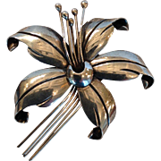 Maricela Sterling Floral Pin Mexico