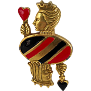 Queen of Hearts and King of Spades Pin