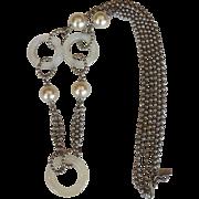 Yves Saint Laurent Lucite Necklace Ball-Link  1970's