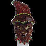 Clown Pin Wood Painted
