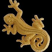 Big Lizard Pin Doreen Ryan 1980's
