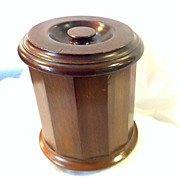 Edwardian Mahogany Tobacco Jar - Early 20thC