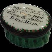 Enamel Patch Box c. Late 18th Century