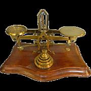 Brass 19th Century English Postal Scale