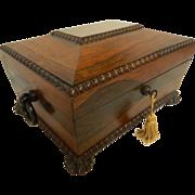 Rosewood Regency Work Box - Early 19th Century