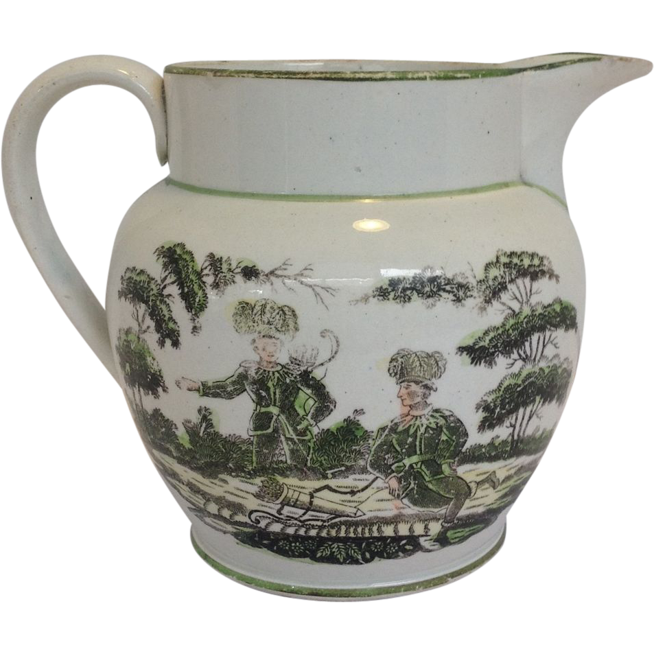 Antique English Foresters Pitcher Circa 1820u0026#39;s from antiquesofriveroaks on Ruby Lane