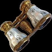 Flammarion Opera Glasses Mother of Pearl Fleur de Lys
