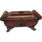 Regency Leather Work Box Early 19thC