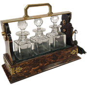 Betjemann's Miniature Brass and Coromandel Tantalus