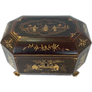 Regency Tea Caddy Chinoiserie 19th c