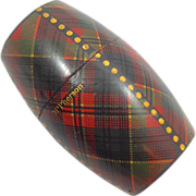 Tartan Ware Barrel Shaped Thimble Case - McPherson
