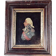 Wax Miniature Portrait of Lord Nelson 19th C.