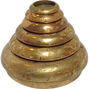 Beehive Nested Weights Brass Circa 1860