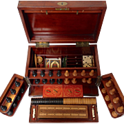 Antique Games Box or Compendium Late 19th c