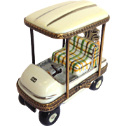 Limoges Golf Cart Porcelain Box