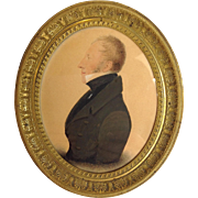 Miniature Portrait Of A Gentleman 19th C.