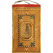 Straw Work Aide Memoire, French, Late 18th C.