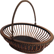 Dutch Openwork Rosewood Basket 19th C.