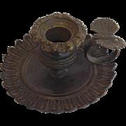 Bronze Butterfly Chamberstick C. 1860