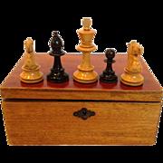 Chess Set Staunton Pattern Boxwood c. 1880-90