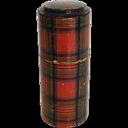 Tartan Ware Round Needle Case Stuart Clan