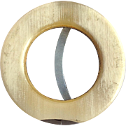 Cigar Cutter With Horn Rim Early 20th C.