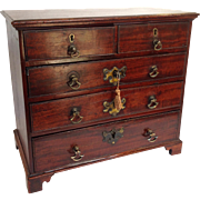 Miniature Mahogany Chest of Drawers 18th/19th C.