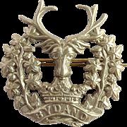 Cap Badge 'Bydand' Gordon Highlanders