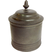 Tobacco Box Pewter Early 19th C.