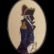 Naval Captain Silhouette Uniform Print 19th C.