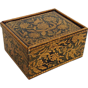 Antique Penwork Box Early 19th Century